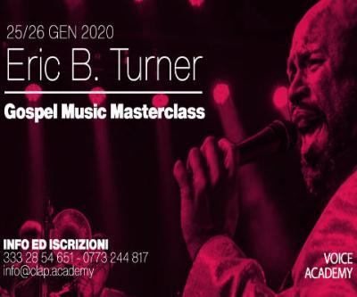 locandina masterclass Eric B. Turner - Latina 2020