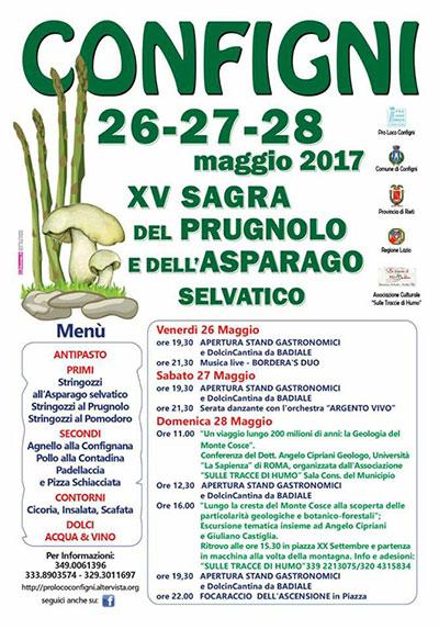 programma sgra del prugnolo e asparagi a configni