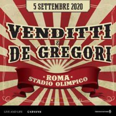 Venditti e De Gregori - locandina concerto settembre 2020 Roma
