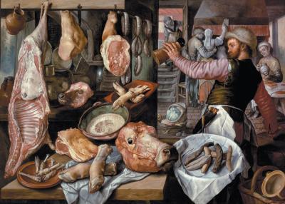 La bottega del macellaio di Joachim Beuckelaer