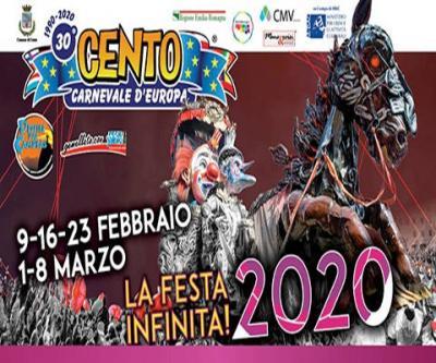 Cento, Carnevale d'Europa, edizione 2020: 09-16-23 febbraio, 01-08 marzo 220. © Carnevale di Cento, Carnevale d'Europa.