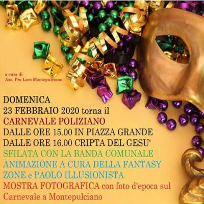 Carnevale Montepulciano 2020