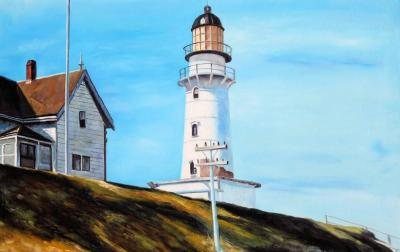 Faro a two lights di Edward Hopper