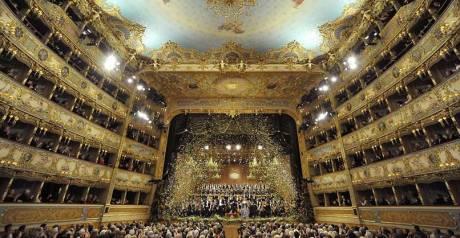 vista del palco del teatro La Fenice