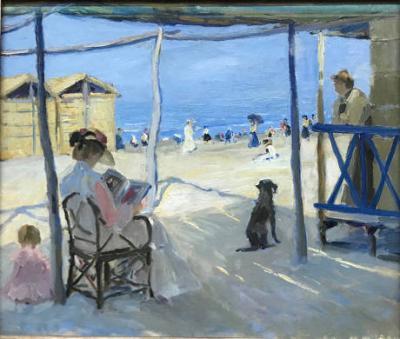 Sulla-spiaggia-di-Viareggio di Philipp KLEIN - 1906 olio-su tela - © Landesmuseum-Hannover
