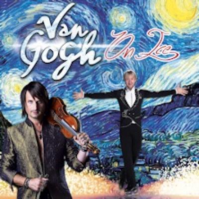 il violinista Edvin Marton ed il campione olimpico di pattinaggio su ghiaccio Evegeni Plushenko nella locandina di Van Gogh on ice