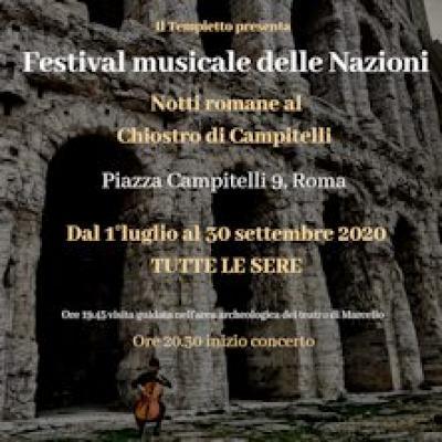 Festival musicale delle Nazioni, locandina