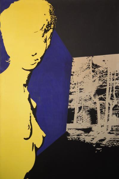 Carlo Gajani - immagine guida -SENZA TITOLO-1969 - Acrilico su tela 280x180cm
