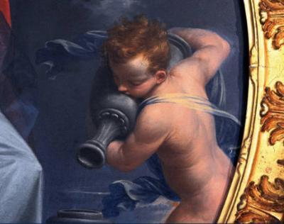 Donato Creti (1671-1749), La Temperanza, olio su rame, 1719-1721, Bologna, Collezioni Comunali d'Arte. Foto Roberto Serra
