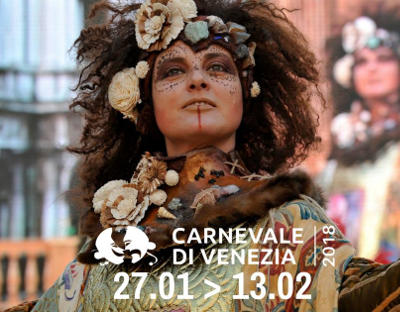 Carnevale di Venezia 2018, da sabato 27 gennaio a martedì 13 febbraio 2018. © Carnevale di Venezia - Official Page Facebook.