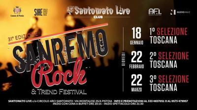 Sanremo Rock, Live tour selezioni - Pistoia - 22 febbraio 2018