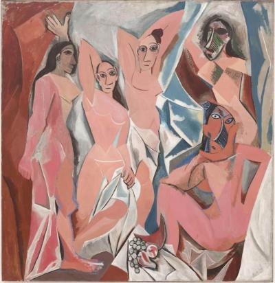 Les Demoiselles d' Avignon di Pablo Picasso