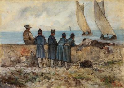 Giovanni Fattori: Reclute sul mare
