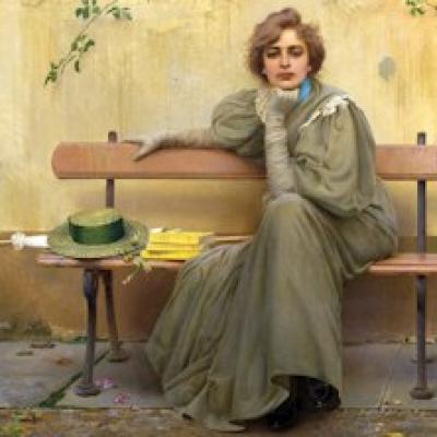 dipinto di donna di Vittorio Corcos