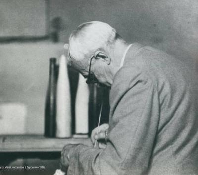 Giorgio Morandi. Foto Lamberto Vitali, settembre 1958