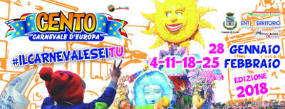 Cento Carnevale d'Europa 2018 - 28 gennaio-25 febbraio 2018