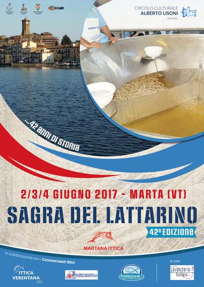locandina sagra del lattaririo a Marta 2017