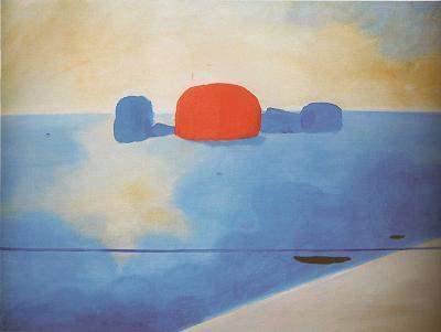 Virgilio Guidi - Marina zenitale, 1951, olio su tela, 90x120cm