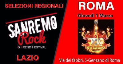 Sanremo Rock, Live tour selezioni - Genzano di Roma - 1 marzo