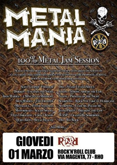 100% Metal Jam Session - Rho (MI) - 1 marzo