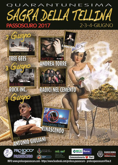 sagra della tellina a Passoscuro - locandina 2017