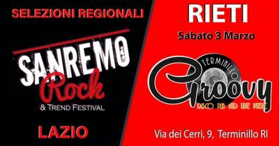 Sanremo Rock, Live tour selezioni - Rieti - 3 marzo