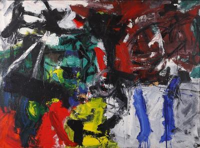 Emilio Vedov:, ciclo 62-63 b5 - 1953, olio su tela, 148,5x200,5cm
