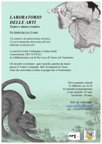Prova Gratuita Laboratorio delle Arti-Teatro e Danza Creativa - Tuoro sul Trasimeno (PG) -23 febbraio