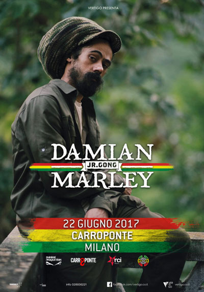 Damian Marley - giugno 2017 Carroponte
