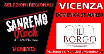 Sanremo Rock, Live tour selezioni - Montebello Vicentino - 25 marzo