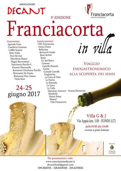 Franciacorta in Villa - locandina edizione 2017