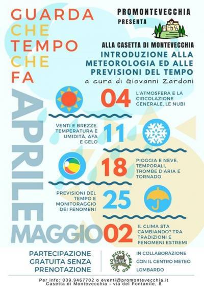 corso Guarda che tempo fa - Montecchia (LC) - dal 4 aprile al 2 maggio