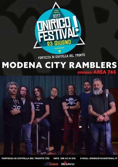 MODENA CITY RAMBLERS opening Area765 - Onirico Festival 2017