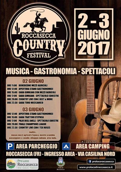 Roccasecca Country Festival - locandina e programma