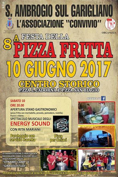 locandina Festa della Pizza fritta 2017 sant'Ambrogio sul Garigliano