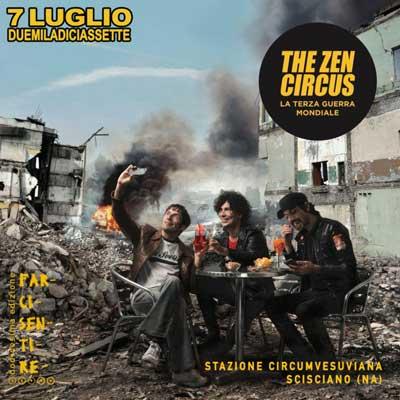 The Zen Circus al FarciSentire Festival 2017, opening Fiori di Cadillac e I Botanici.