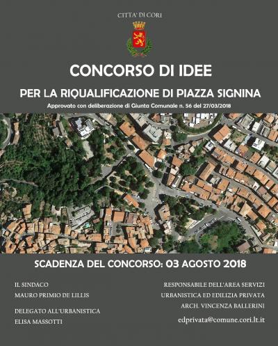 Concorso di Idee per riqualificazione e valorizzazione di Piazza Signina a Cori (LT)
