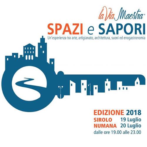 Spazi e Sapori - Sirolo e Numama (AN) - 19 e 20 luglio 2018