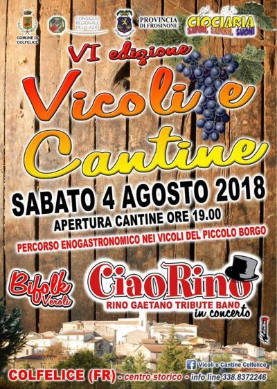 Vicoli e Cantine - Colfelice (FR) - 4 agosto