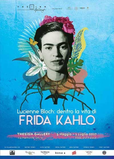 locandina della mostra fotografica - Lucienne Blosh: dentro la vita di Frida Kahlo