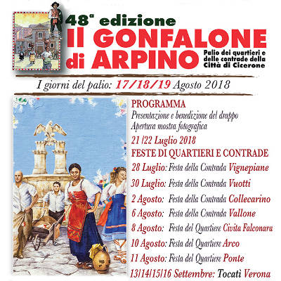 Palio del Gonfalone - Arpino (FR) - dal 17 al 19 agosto