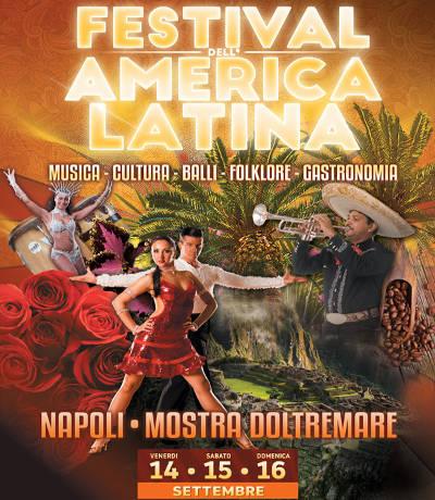 festival latino Napoli 2018, locanzina