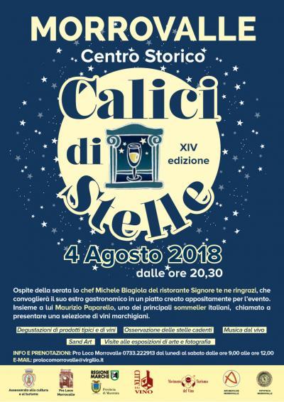 calici di stelle Morrovalle 2018, locandina