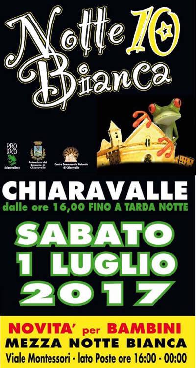 notte bianca Chiaravalle 2017 locandina