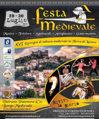 festa medievale vairano patenora 2017 locandina