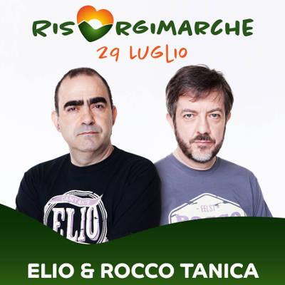 Elio e Rocco Tanica, locandina RisorgiMarche