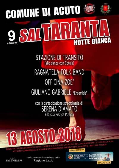 SalTaranta 2018, Acuto - locandina