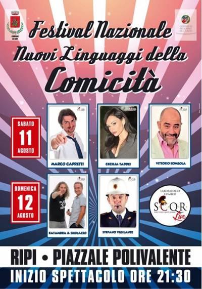 Festival nuovi linguaggi della comicità, Ripi 2018 - locandina