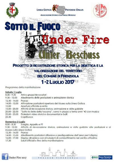 locandina Under Fire - Firenzuola - 2017