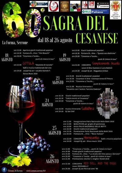 Sagra del Cesanese - Serrone (FR) - dal 18 al 26 agosto